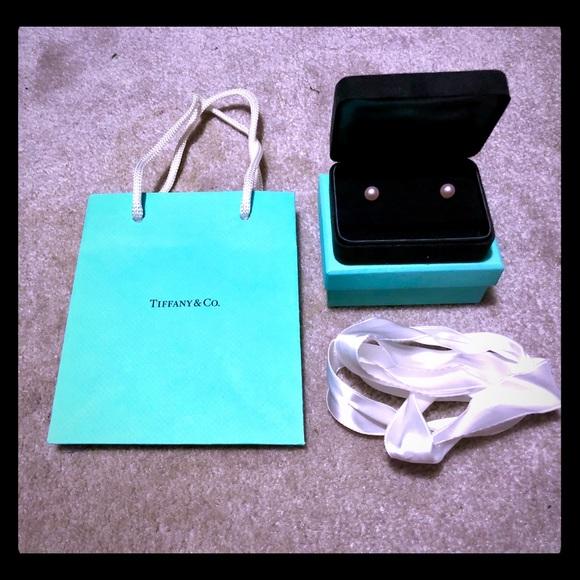 56d1d6605111c1 Tiffany & Co. Jewelry | Tiffany Signature Pearl Earrings | Poshmark